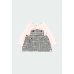 Vestido punto cuadros de bebé niña Boboli