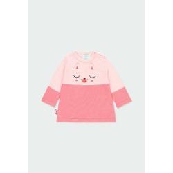 Vestido tricotosa bicolor de bebé niña Boboli