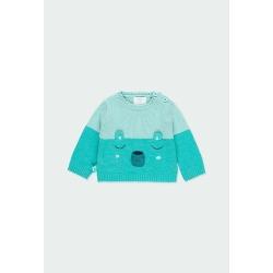 Jersey tricotosa bicolor bebé niño Boboli