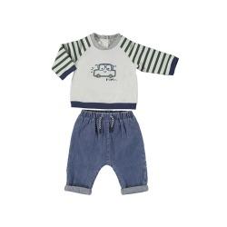 Conj. bebe niño pantalon largo tejano Mayoral