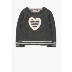 Jersey tricotosa corazon bebe niña