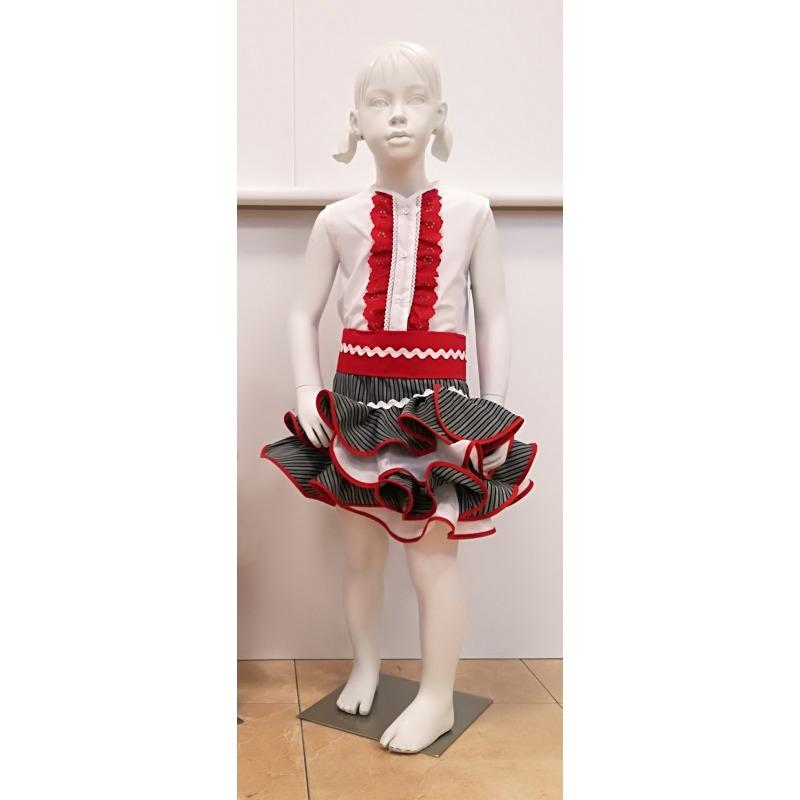 Conjunto falda campera niña