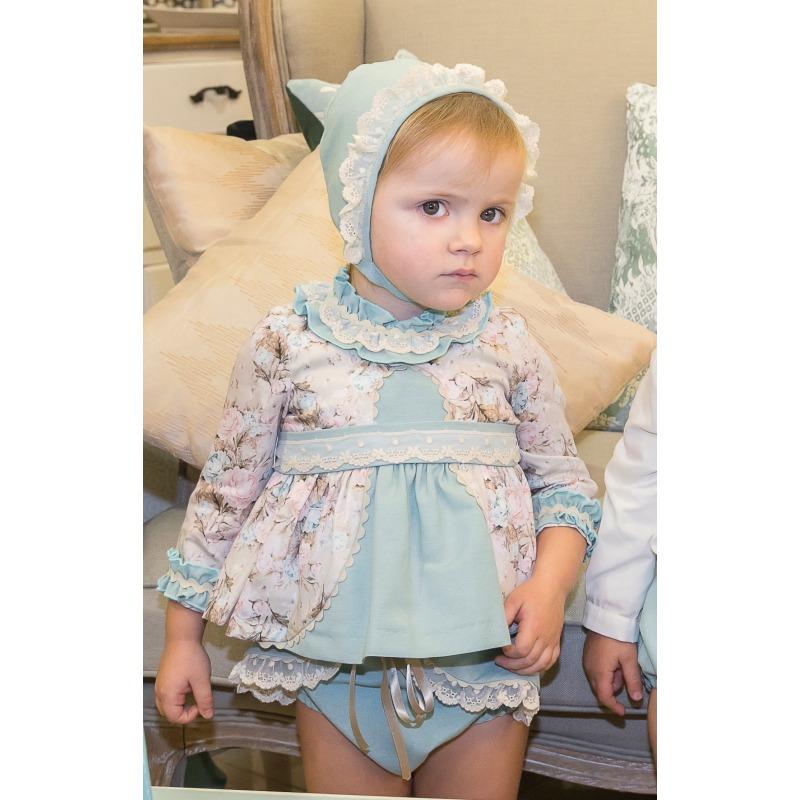 cff152114 Conjunto bebe niña 2 piezas estampado flores - Moda Infantil Andy