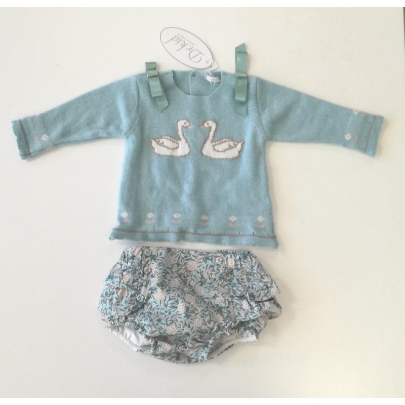 d449b215d Conjunto bebe niña ranita volantes - Moda Infantil Andy
