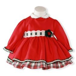 Vestido bebe niña bajo cudros
