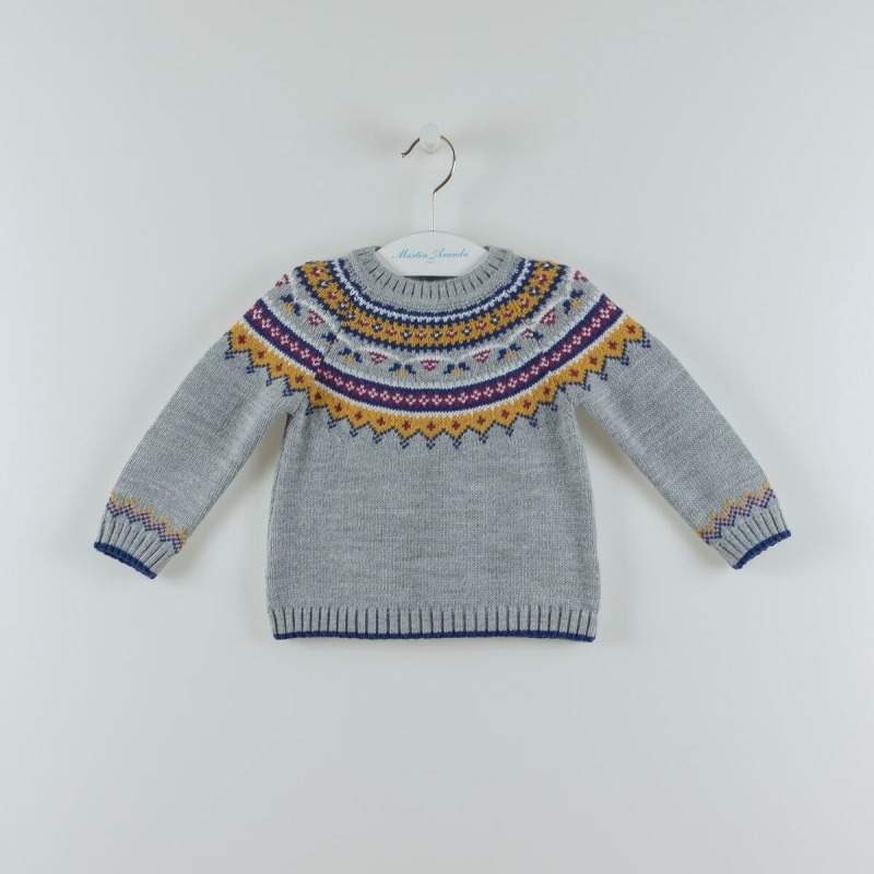 Jersey niña cenefas Martin Aranda - Moda Infantil Andy 18f069664b1