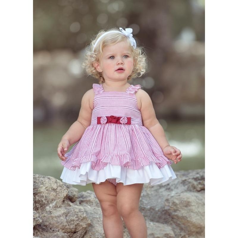 dc98b8eb4dc Vestido bebe rayas Miranda - Moda Infantil Andy