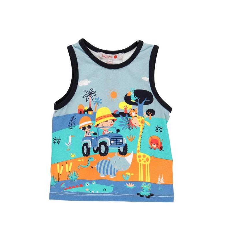 4813e7be3 Camiseta tirantes punto bebe niño - Moda Infantil Andy