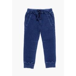Pantalón felpa denim de niño