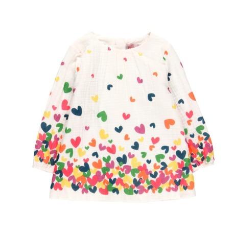 Vestido de tejido de bebé niña