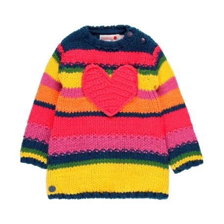Vestido tricotosa de bebé niña
