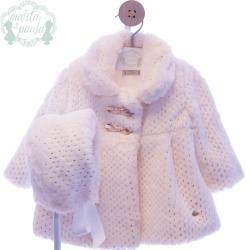 Abrigo bebé con capota
