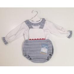 Peto con camisa bebe niño Ceyber