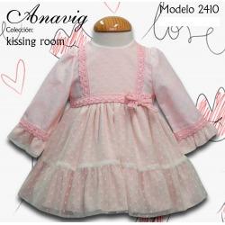 Vestido bebe con capota Anavig