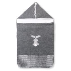 Saco capucha conejo pompon
