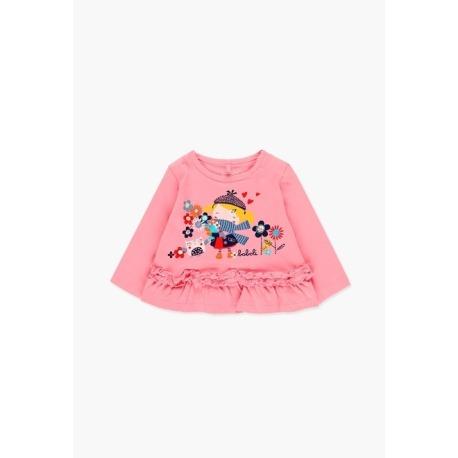 Camiseta punto liso bebé niña