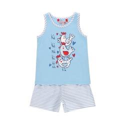 Pijama punto elástico de niña