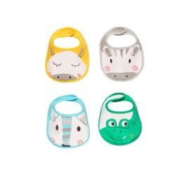 Pack 4 baberos de bebé boboli
