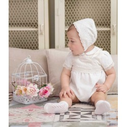 Pelele con gorro bebe ceremonia Miranda
