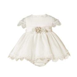 Vestido con braguita bebe ceremonia Miranda