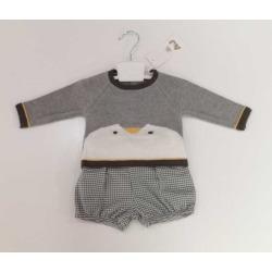 Conjunto bebe niño pingüino A&J