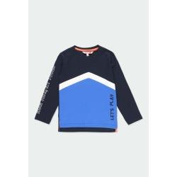 Camiseta niño con bandas Boboli