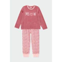 Pijama terciopelo animal print niña Boboli
