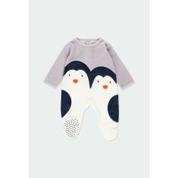 "Pelele terciopelo ""pingüino"" bebé Boboli"