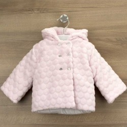 Abrigo bebe tundosado capucha