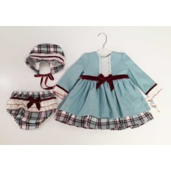 Vestido bebe capota y braguita Anavig