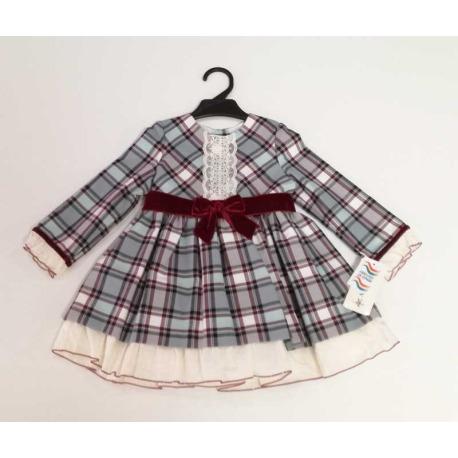 Vestido infantil cuadros Anavig