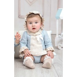 Vestido bebe con capota Miranda