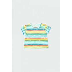 Camiseta punto listada bebé niño Boboli