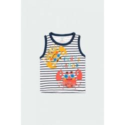 Camiseta punto listado bebé niño Boboli