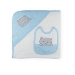 Capa baño + babero familia gatito Sardón