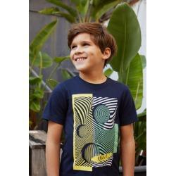 Camiseta estampado geometrico niño UBS2