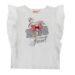 Camiseta niña ancla UBS2