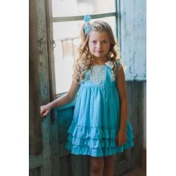 Vestido infantil plumeti Zoe Kiss