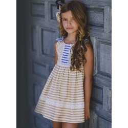 Vestido infantil rayas Zoe Kiss