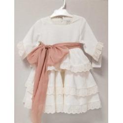 Vestido infantil lino ceremonia Zoe Kiss