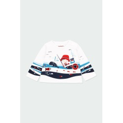 """Camiseta punto """"sea world"""" de bebé Boboli"""