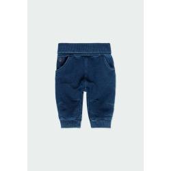 Pantalón felpa denim de bebé Boboli