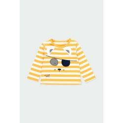Camiseta punto listada de bebé niño Boboli