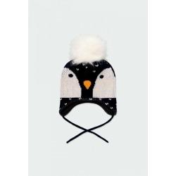 "Gorro tricotosa ""pingüino"" de bebé Boboli"